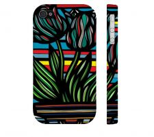 Buy Dechaine Yellow Red Black Iphone 4/4S Apple Phone Case Flowers Botanical
