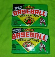 Buy VINTAGE LOT OF 2 1989 BOWMAN BASEBALL WAX PACKS FACTORY SEALED