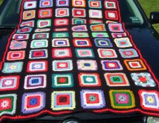 Buy Hand Crocheted Granny Square Afghan