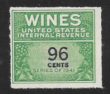 Buy US Internal Revenue 96 Cent Wine Tax Stamp RE145 Series 1941 Mint NH