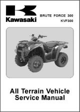 Buy 12-13 Kawasaki Brute Force 300 / KVF300 ATV Service Repair Workshop Manual CD