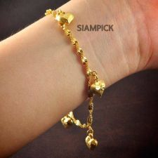 Buy Thai 22k 24k Baht Yellow Gold Plated GP Rope Bracelet Chain Bangle Jewelry B005