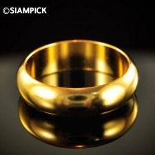Buy 24k Plain Wedding Engagement Ring Thai Baht Yellow Gold GP Size 5 Jewelry GF #10