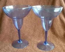 Buy Margarita Glasses (2) - Blue Plastic
