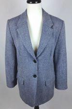 Buy Orvis Jacket L Womens Blue Wool Long Sleeve