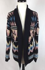 Buy Pins and Needles Sweater S Womens Multicolor Cotton Long Sleeve