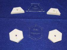 "Buy Mylar 2"" Hexagon- 2"" Half Hexagon 102 Piece Set - Quilt / Sew Templates -"