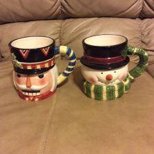 Buy Set of 2 Tis The Season CHRISTMAS Ceramic Coffee Mugs Santa Claus Nutcracker
