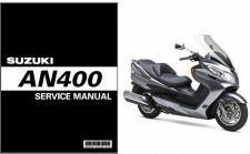 Buy 07-12 Suzuki Burgman 400 AN400 Service Repair Manual CD - AN 400 Skywave