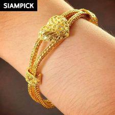 Buy 22k 24k Thai Baht Yellow Gold Plated Franco Chain Bangle Bracelet Jewelry B089