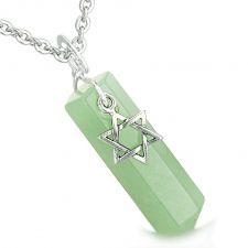 Buy Happy Sitting Buddha Amulet Green Quartz Magic Powers Pendant 18 Inch Necklace