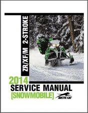 Buy 2014 Arctic Cat ZR XF M Series 2-Stroke Snowmobiles Service Repair Manual CD