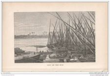 Buy EGYPT - VIEW OF THE NILE - engraving from 1873
