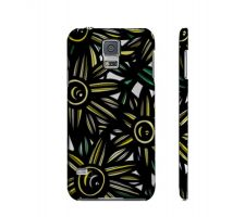 Buy Tuazon Yellow Black Flowers Samsung Galaxy S5 Phone Case