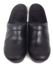 Buy Dansko Shoes 39 8.5 Womens Black Leather Clogs