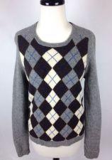 Buy J Crew Sweater Womens L Gray Wool Long Sleeve