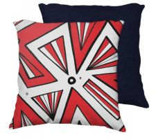 Buy Hergenrader 18x18 Red White Black Blue Back Cushion Case Throw Pillow Cover 631 Art