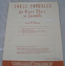 Buy Three Chorales for Brass Choir - Whear