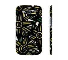 Buy Barto Yellow Black Flowers Samsung Galaxy S3 Phone Case