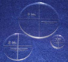 """Buy Laser Cut Quilt Templates- 3 Piece Circles -1"""", 2"""", 3"""" Clear Acrylic 1/4"""""""
