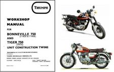 Buy 73-80 Triumph Bonneville 750 - Tiger 750 Service Workshop Repair Manual CD