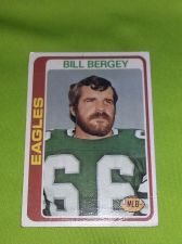 Buy VINTAGE BILL BERGEY EAGLES SUPERSTAR 1978 TOPPS #190 ERROR CARD FR-GD