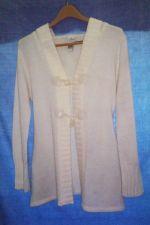 Buy EUC women's, Sz. M, ivory, long sleeve, knit cardigan sweater