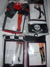 Buy Leg Ave stockings Thigh Hi lot 4 Pirate Devil Racing checkerboard