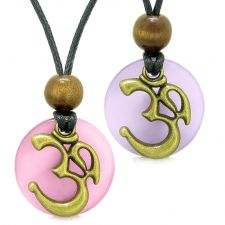 Buy Ancient OM Tibetan Amulets Love Couples Yin Yang Powers Purple and Pink Simulated Cat