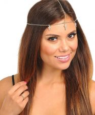 Buy Women Cross Crucifix Rhinestone Fashion Head Chain Gold Silver Headband Jewelry