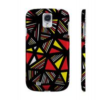 Buy Rauh Yellow Red Black Samsung Galaxy S4 Phone Case