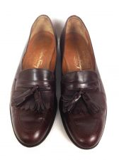 Buy Salvatore Ferragamo Shoes 10 B Mens Brown Leather Loafers