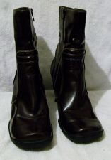 "Buy EUC Women's Brown Predictions size 8 1/2, 9 1/2"" tall boots with side zippers"