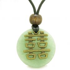Buy Double Happiness Feng Shui Amulet Fortune Powers Green Quartz Coin Medallion Pendant
