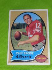 Buy VINTAGE JOHN BRODIE 49ers HOF SUPERSTAR 1970 TOPPS #130 GD-VG