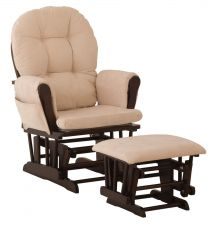 Buy Stork Craft Hoop Glider and Ottoman Set, Espresso/Beige
