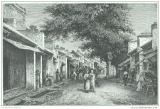 Buy TONKIN (VIETNAM) - STREET OF BLACK-PAVILIONS - engraving from 1889