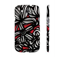 Buy Mahanna Red White Black Samsung Galaxy S3 Phone Case Flowers Botanical