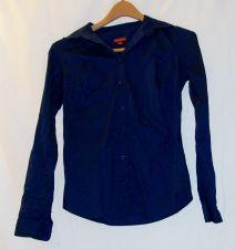 Buy EUC women's, Sz. XS MERONA, navy blue, long sleeve, button down shirt