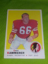 Buy VINTAGE CARL KAMMERER REDSKINS 1969 TOPPS #158 HIGH BOOK VALUE