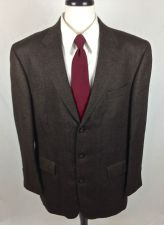 Buy Oscar De La Renta Blazer Mens 44 R Brown Wool Sport Coat Jacket