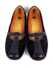 Buy Clarks Shoes 9 Womens Black Leather Ballet Flats
