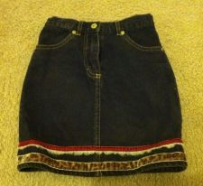 Buy The Childrens Place Jean Skirt Leopard Trim Size 6