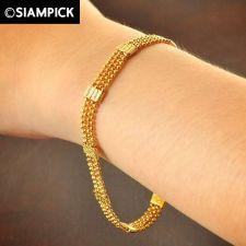 Buy Dubai Beads Chain 22k 24k Thai Baht Yellow Gold GP Bangle Bracelet Jewelry B142