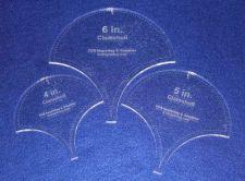 """Buy 3 Piece Clamshell Set - with Seam Allowance 4"""", 5"""", 6"""" ~ 1/4"""" Thick - Long Arm"""