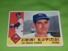 Buy VINTAGE JOHNNY KLIPPSTEIN DODGERS 1960 TOPPS #1191 GD/VG