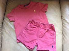 Buy Ralph Lauren Polo Boys Short Shirt Outfit Size 9m