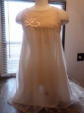 Buy Vintage Movie Star Dreamy Peach Tricot Double Nylon Sissy Nightgown Negligee S