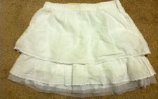 Buy Arizona Girls White Tiered Mini Skirt Size 6