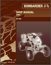 Buy 2001 Can-Am DS 650 ATV Service Repair Manual CD -- BRP Bombardier DS650 CanAm
